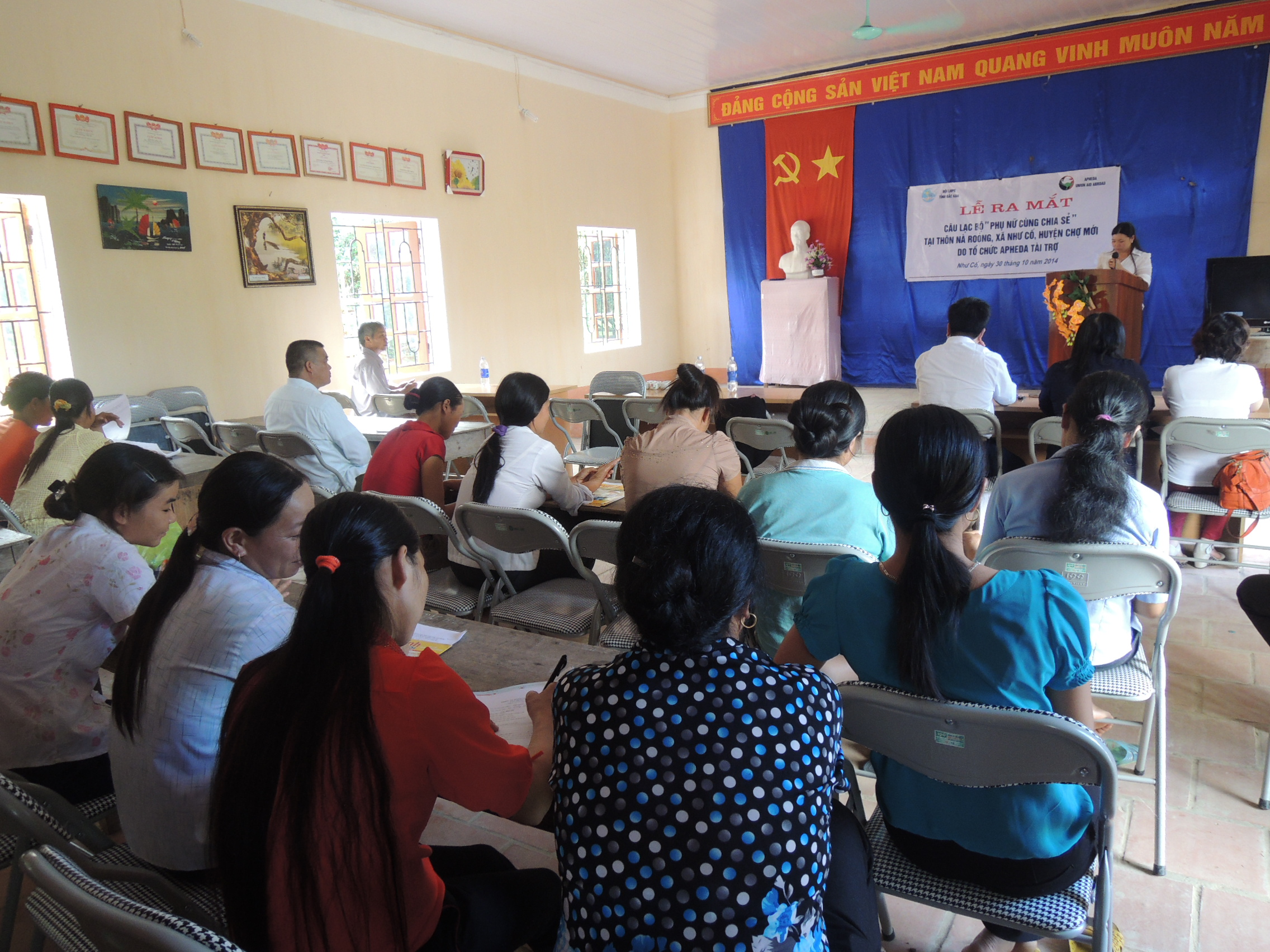 APHEDA has been working with the Women's Union in Bac Kan Province on reducing the incidence of domestic violence.