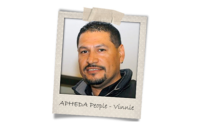 Union Aid Abroad-APHEDA People: Meet Vinnie