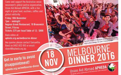 Melbourne Dinner – 18 November 2016