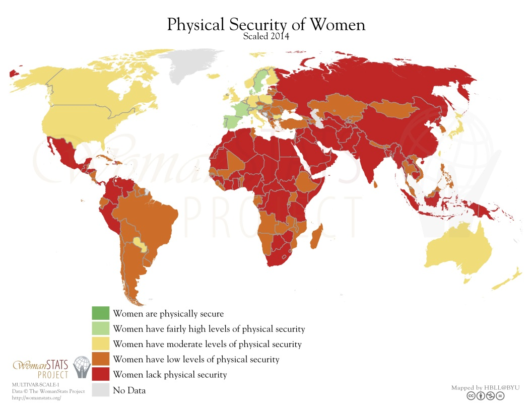 Physical Security of Women map