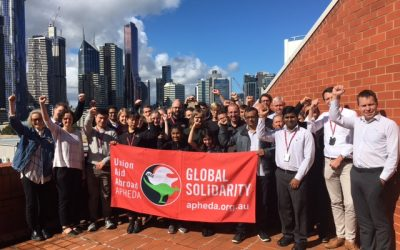 Melbourne Unionists Stand with Rajendra