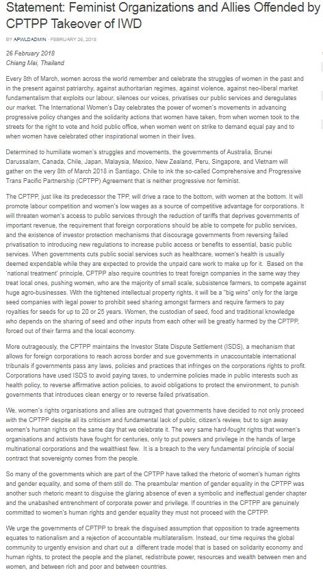 APWLD TPP Statement