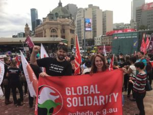 Melbourne Big Steps rally