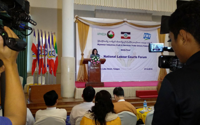 Unions in Myanmar call for establishment of Labour Courts